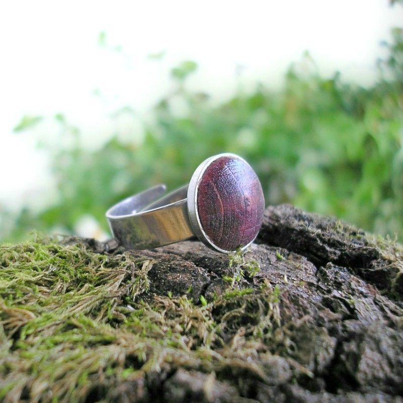 Egyke nemesacél gyűrű lila