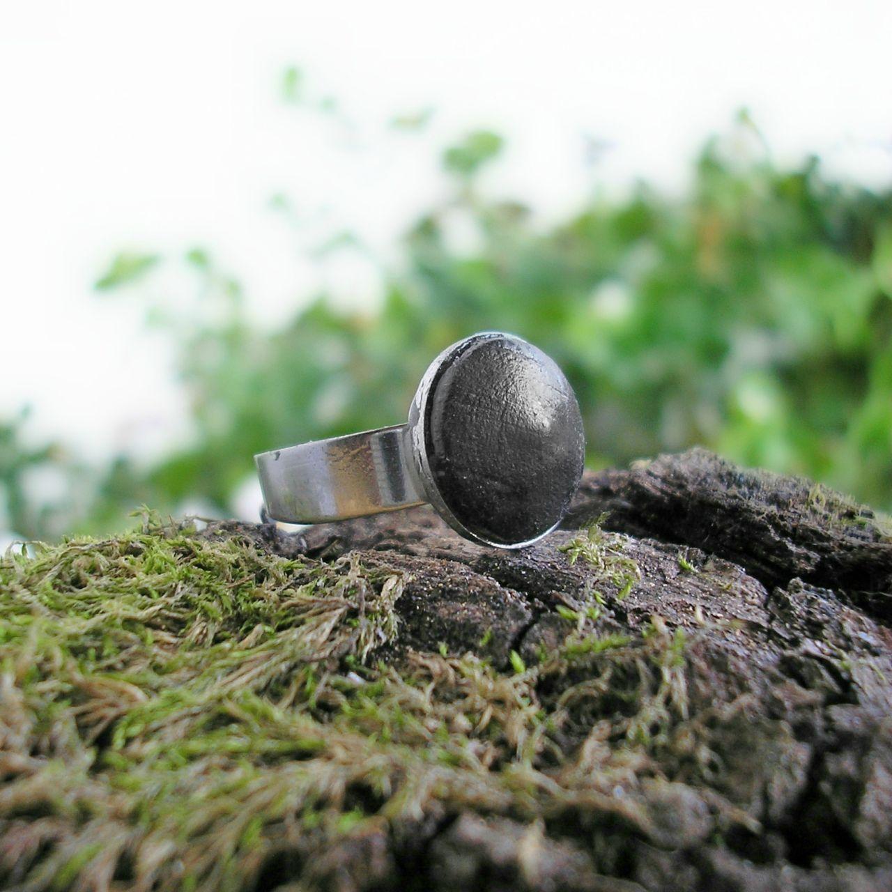Egyke nemesacél gyűrű fekete