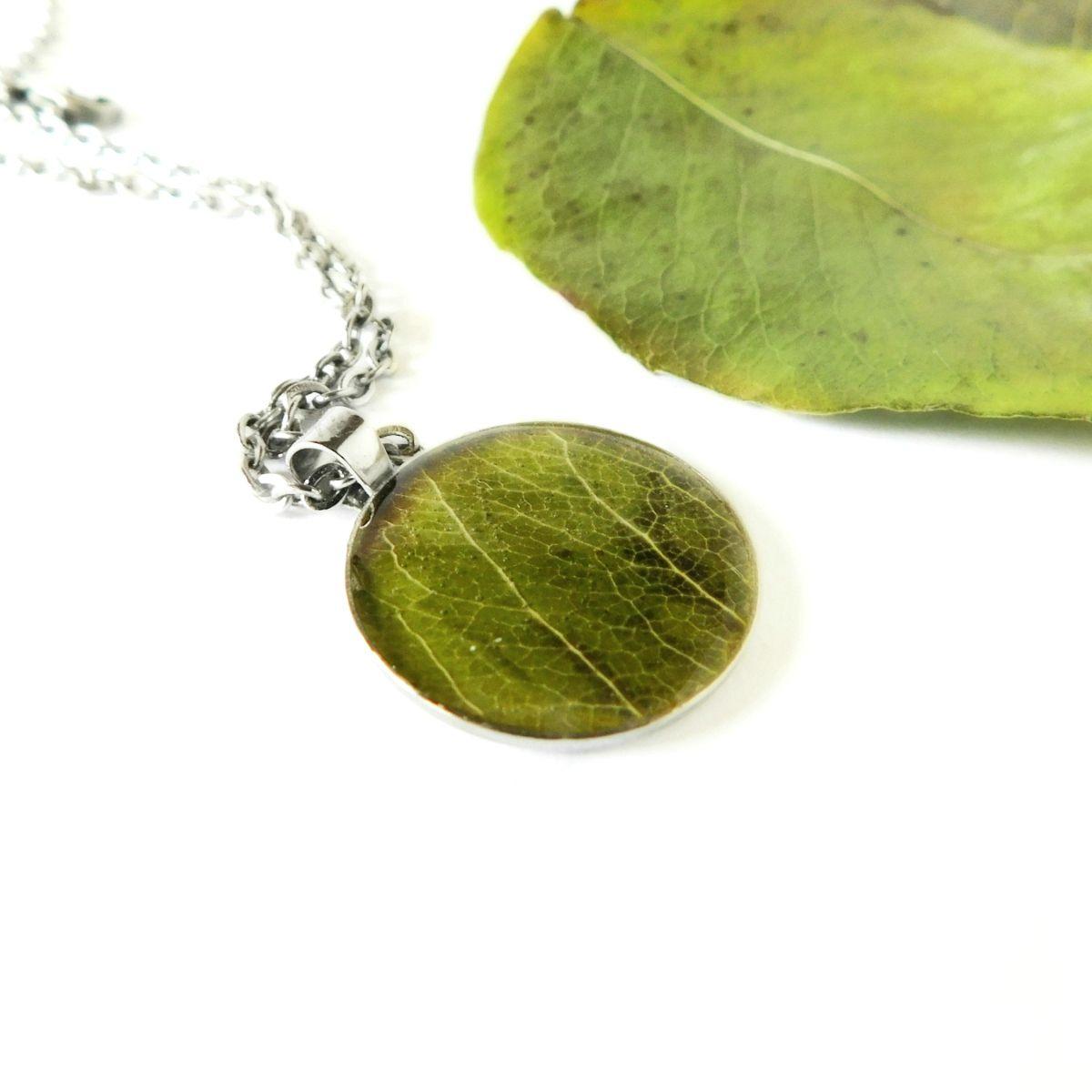 Zöld falevél nyaklánc